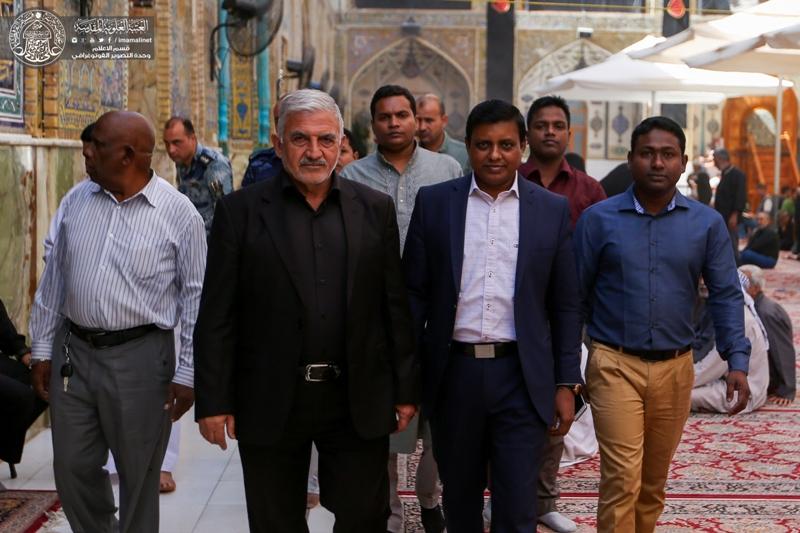 القنصل البنغالي في العراق : ضريح الإمام علي (عليه السلام) هو محط لقلوب المؤمنين من كافة أنحاء العالم