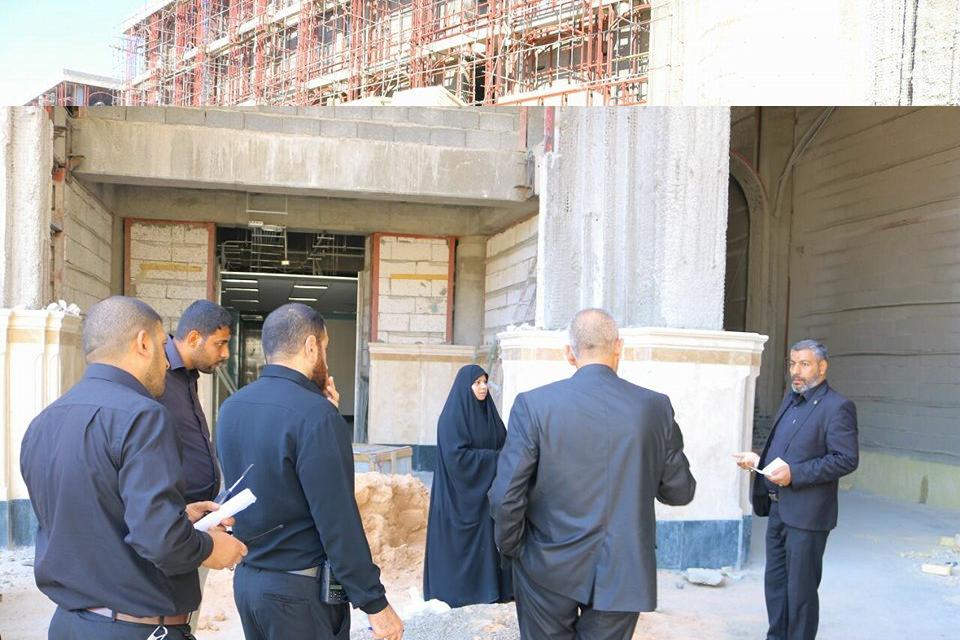 إدارة القسم النسوي في العتبة العلوية المقدسة تشرف على الاستعدادات الخاصة لاستقبال زائرات