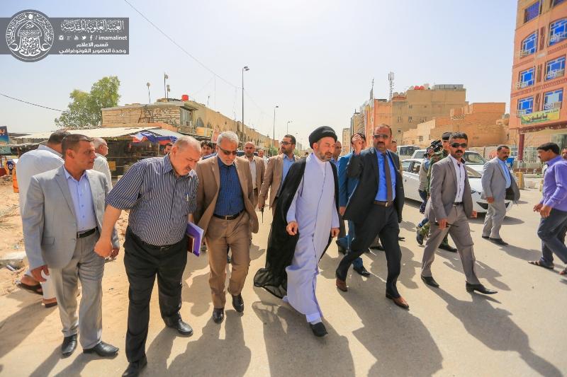 الأمين العام للعتبة العلوية المقدسة يعلن قرب افتتاح مشروع ماء يغذي المدينة القديمة بالكامل بطول 4كم