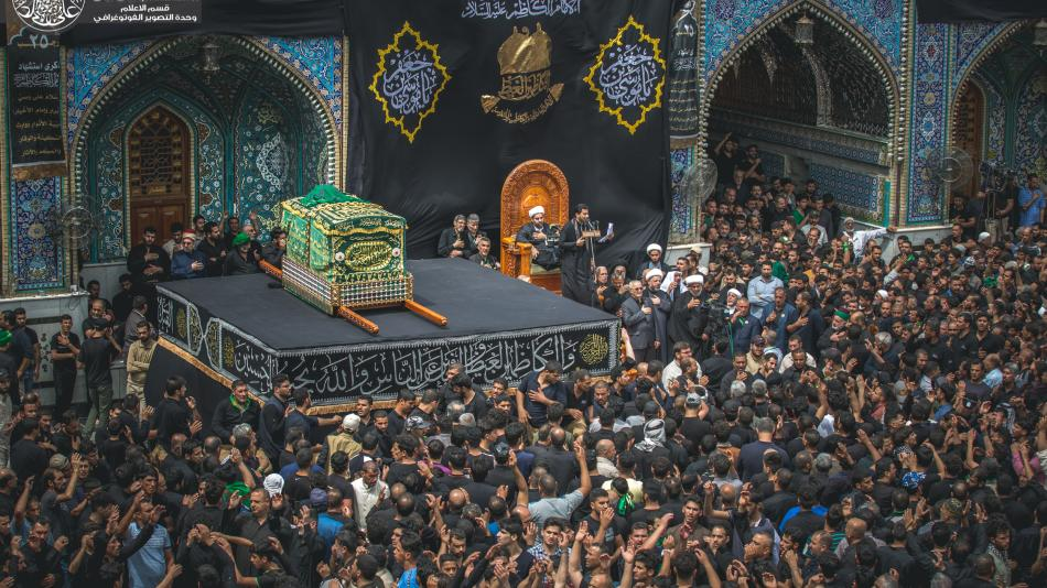 The Solemn Rituals of the Symbolic Funeral Ceremony of the Martyrdom of Imam Kadhim (PBUH)