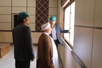 The Head of the Intellectual and Cultural Affairs Department Views the New Place for al-Rawdha al-Haidaryah Library Firsthand