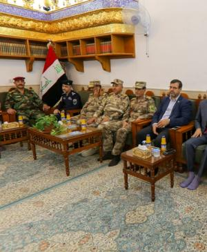 The Secretary General of the Holy Shrine of Imam Ali (PBUH) Receives the Chiefs of Border Forces
