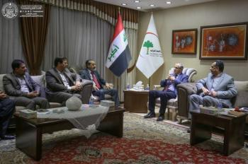 The Delegation of the Imam Ali (PBUH) Holy Shrine Meets with the Iraqi Health Minister