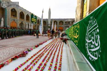 In Pictures… the Personnel of the Imam Ali (PBUH) Holy Shrine Celebrate the Anniversary Birthday of Lady Zainab (PBUH)
