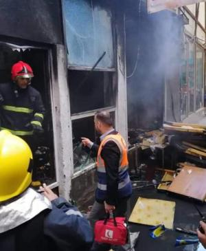 Civil Defense Division in the Holy Shrine of Imam Ali (PBUH) Puts out Fires in the Old City