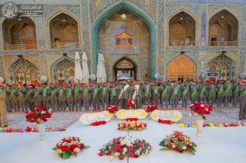 In Pictures…the Personnel of the Holy Shrine of Imam Ali (PBUH) along with Multitudes of Pilgrims Celebrate the Anniversary Birthday of Imam Baqir (PBUH)