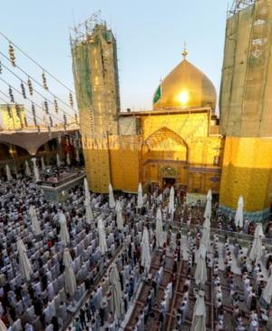 In Pictures…Performing the Eid Prayer in the Imam Ali (PBUH) Holy Shrine