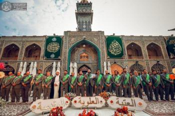 The personnel of the Imam Ali (PBUH) Holy Shrine commemorate the anniversary birthday of the Messenger of Allah (PBUH&P)