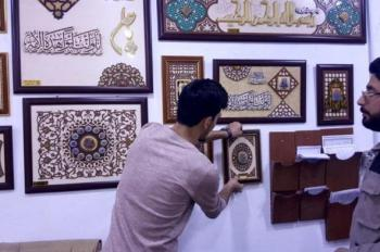 Engraving department at the Imam Ali (PBUH) Holy Shrine completes more than (5) thousand pieces of art