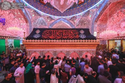 الحرم العلوي في صبيحة جرح أمير المؤمنين(ع) محاطا بأفئدة المعزين التي أعتصرها ألم المصاب ( صور )