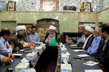 The Secretary General of Imam Ali Holy Shrine on his Weekly Meeting with the Heads of the Departments Discusses the Preparations for  Celebrating the Festival of Ghadeer, the Services Provided for the Visitors, and the Program set up by the Holy Shrine for Sheltering and Serving the Displaced People  .