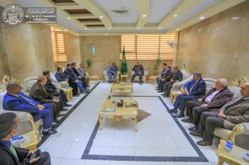Public Relations Department of Imam Ali Holy Shrine receives the Head of Technical Education and group of the Presidents of Universities in Imam Ali Holy Shrine.