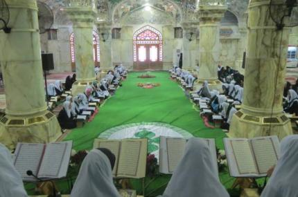 Women Quranic Division at Imam Ali Holy Shrine concludes the Quranic sessions for the girls.