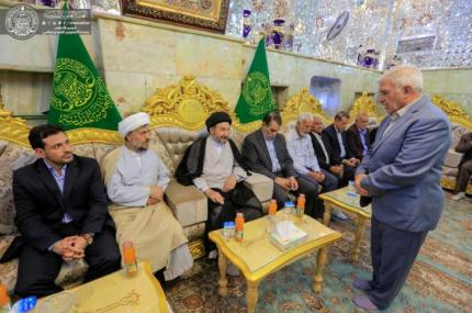 An official delegation from the city of Isfahan discusses the implementation of joint ideological programs and activities with Imam Ali Holy Shrine.
