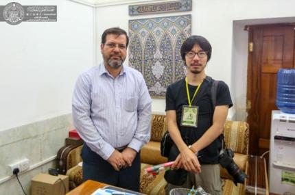 A Japanese Journalist Visits the Holy Shrine of Imam Ali (PBUH)