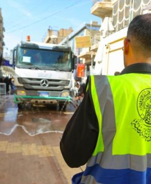 Service Affairs Department in the Holy Shrine of Imam Ali (PBUH) Leads a Campaign to Clean the City Streets